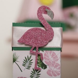 Aplique EVA 7cm - Flamingo / Tropical - 06 unidades