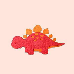 Aplique EVA 7cm - Dinossauro Vermelho - 06 unidades