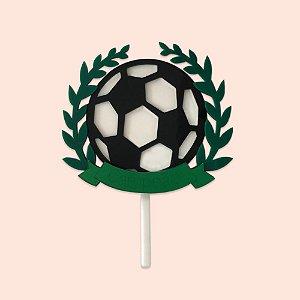 Topo de Bolo Decorativo Acrílico 17cm - Futebol - 01 unidade
