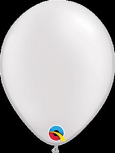Balão de 5 Polegadas Branco Perolado Qualatex - 05 unidades - Kit Teddys