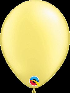 Balão de 11 Polegadas Amarelo Perolado Qualatex - 05 unidades - Kit Teddys
