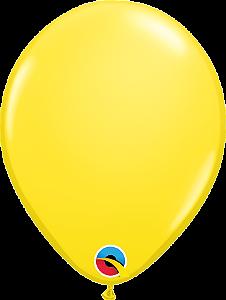 Balão de 11 Polegadas Amarelo Qualatex - 05 unidades - Kit Teddys