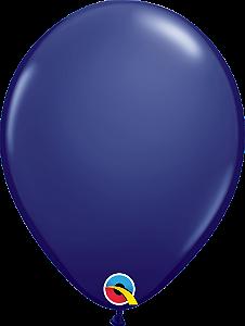 Balão de 11 Polegadas Azul Marinho Qualatex - 05 unidades - Kit Teddys