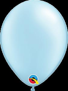 Balão de 11 Polegadas Azul Perolado Qualatex - 05 unidades - Kit Teddys