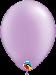 Balão de 11 Polegadas Lilás Perolado Qualatex - 05 unidades - Kit Teddys
