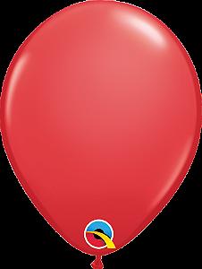 Balão de 11 Polegadas Vermelho Qualatex - 05 unidades - Kit Teddys