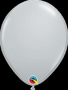 Balão de 11 Polegadas Cinza Qualatex - 05 unidades - Kit Teddys