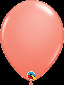 Balão de 11 Polegadas Coral Qualatex - 05 unidades - Kit Teddys