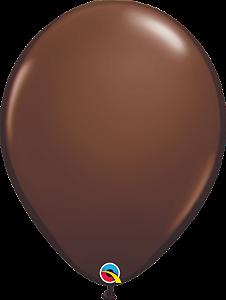 Balão de 11 Polegadas Marrom Chocolate Qualatex - 05 unidades - Kit Teddys
