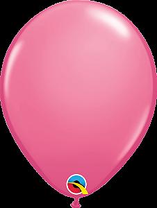 Balão de 11 Polegadas Rosado Qualatex - 05 unidades - Kit Teddys