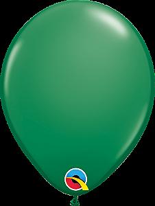 Balão de 11 Polegadas Verde Qualatex - 05 unidades - Kit Teddys