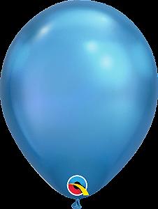Balão de 11 Polegadas Azul Cromado Qualatex - 05 unidades - Kit Teddys
