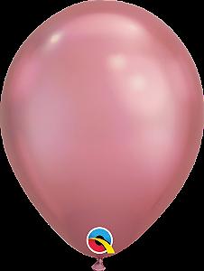Balão de 11 Polegadas Malva Cromado Qualatex - 05 unidades - Kit Teddys