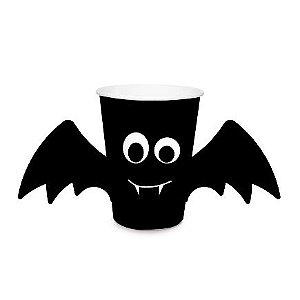 Copo Descartável Halloween Morcego Com Asas - 240 ml - 08 unidades
