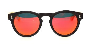 Óculos de Sol de Acetato com Bambu Leonor Brown Red
