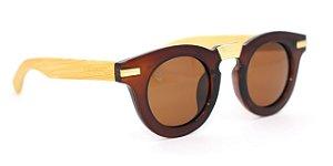 Óculos de Sol de Acetato com Bambu Carlota Brown