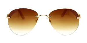 Óculos de Sol de Acetato com Bambu Amina Brown