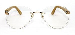 Óculos de Sol de Acetato com Bambu Amina