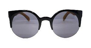 Óculos de Sol de Acetato com Bambu Lolla Grey