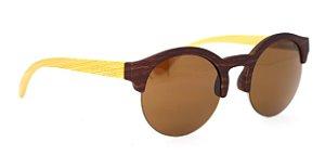 Óculos de Sol de Acetato com Bambu Lolla Brown