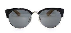 Óculos de Sol de Acetato com Metal e Bambu Lolla Black
