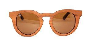 Óculos de Sol de Bambu Bella Brown