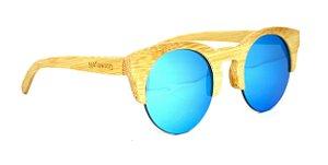 Óculos de Sol de Bambu Carmel Blue