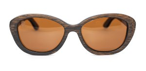Óculos de Sol de Bambu Carmine Brown