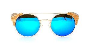 Óculos de Sol de Madeira e Metal Anna Blue