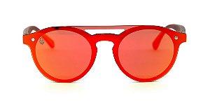 Óculos de Sol de Acetato com Madeira Merida Red