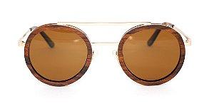 Óculos de Sol de Madeira e Metal Schultz Brown