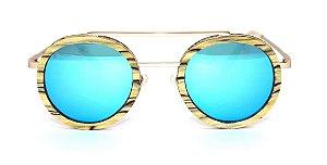 Óculos de Sol de Madeira e Metal Schultz Blue
