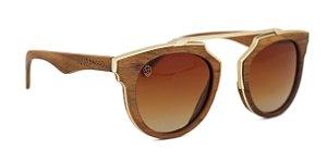 Óculos de Sol de Madeira e Metal Genovese
