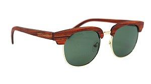 Óculos de Sol de Madeira e Metal Castellano Brown