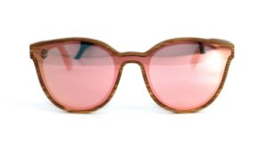Óculos de Sol de Madeira Bugs Gold