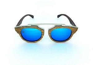 Óculos de Sol de Madeira e Metal Genovese Blue