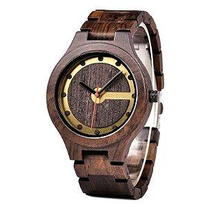 Relógio de Madeira Kinaros