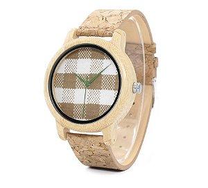 Relógio de Madeira e Bambu Bugys