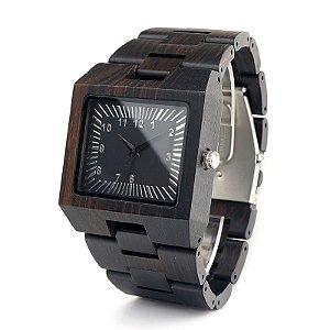 Relógio de Madeira Scarfo Black