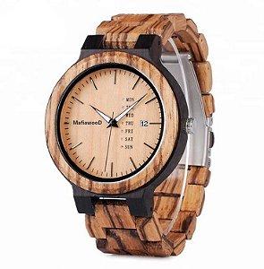 Relógio de Madeira Kauna