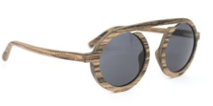 Óculos de Sol de Madeira Big Circle