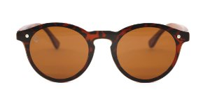 Óculos de Sol de Acetato com Madeira Tiana Turtle