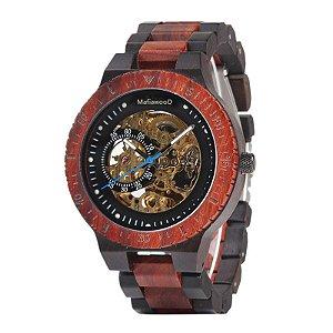 Relógio de Madeira Mikonos Red Automático