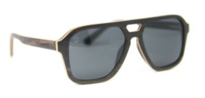 Óculos de Sol de Madeira Gallante Black