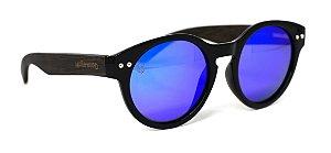 Óculos de Sol de Acetato com Bambu Jasmine Blue