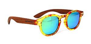 Óculos de Sol de Acetato com Madeira Riina Flower