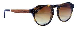 Óculos de Sol de Acetato e Madeira Mickey