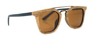 Óculos de Sol de Madeira e Metal Carfano