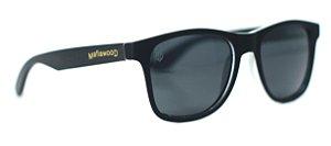 Óculos de Sol de Acetato com Madeira Nebrasca Black