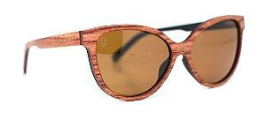 Óculos de Sol de Madeira Ariel Wood Brown